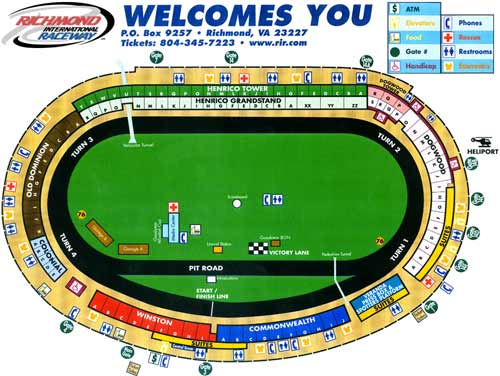 Richmond International Raceway Seating Note To Self Music